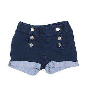 Genuine kids stretch denim snap front shorts 3T